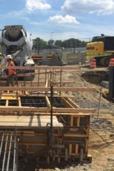 July 2016 - Concrete Placement for Pile Cap at Future West Garage Site