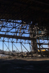 February 2015 - Hangar 4 Demolition Interior View