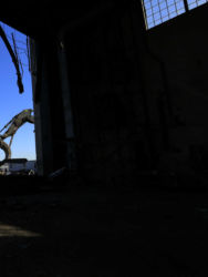 January 2015 - Interior View of the Demolition of Hangars 2 and 4