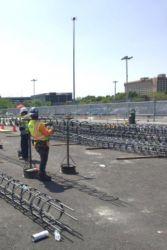 May 2016 - Latherers Assembling Rebar Cages for Concourse B Test Piles