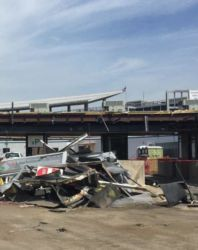 August 2016 - Debris from the Lot P2 Parking Garage East Toll Plaza Demolition