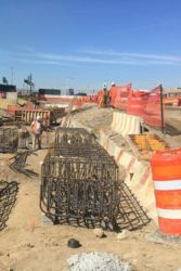 August 2016 - Installation of the Rebar Pile Cap Cages