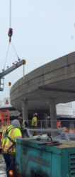 February 2015 - P4 Parking Garage Toll Plaza Canopy Steel Erection