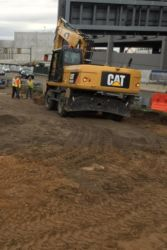 April 2015 - Preparation for Temporary By-pass Lane at LaGuardia Road