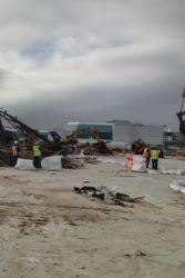 May 2015 - Cleanup Continues at Hangars 2 and 4 Site