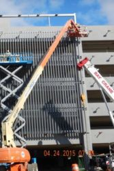 May 2015 - Installation of Exterior Fins at Lot P4 Garage Site