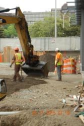 May 2015 - Soil Compaction at East Side of Lot P4 Garage