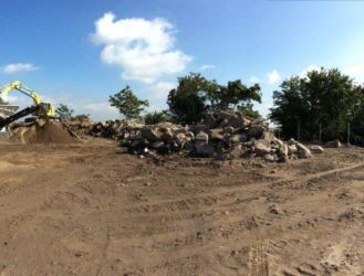 September 2015 - Ingraham's Mountain Screening Plant Operation with Excavated Material from Access Road