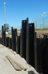September 2016 - Driving Sheet Piles at the East Field Lighting Vault