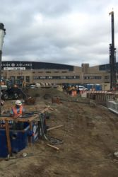 September 2016 - Future West Parking Garage Concrete Placement